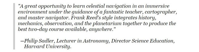 A great opportunity to learn celestial navigation in an immersive environment 